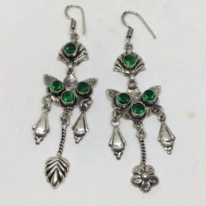 Handmade Jewelry - Green Quartz Silver Earrings